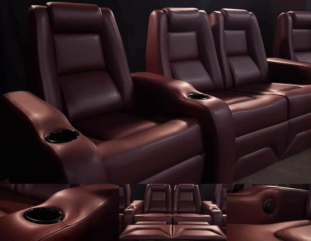 Custom Leather Home Theater Recliner by Elite HTS