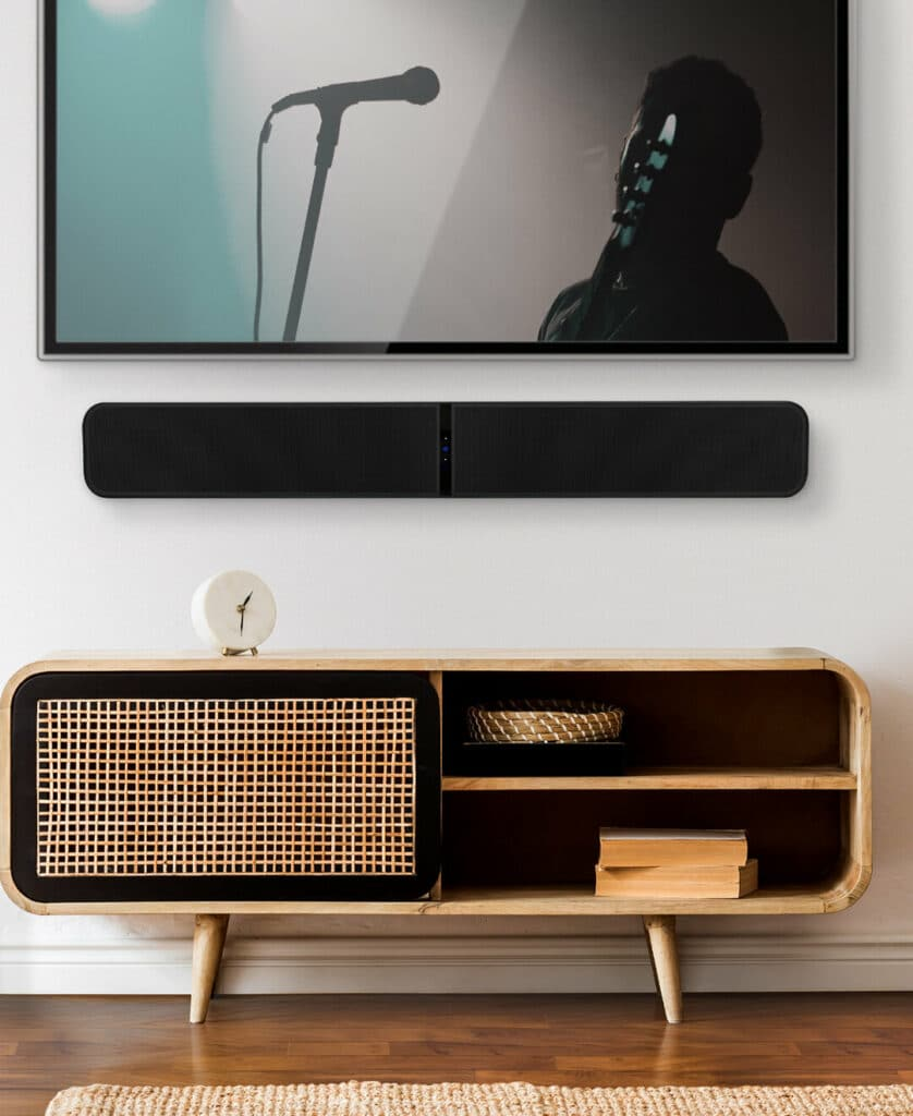Bluesound Pulse Soundbar in Modern Home
