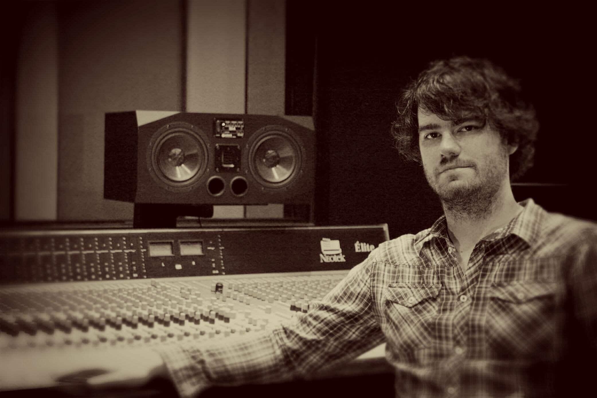 Jon King In the recording studio