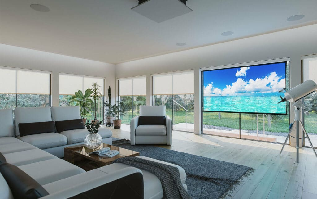 Motorized Shades & Projection Screen